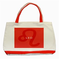 Zodiac Leo Classic Tote Bag (red) by Mariart