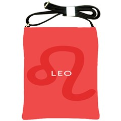 Zodiac Leo Shoulder Sling Bags by Mariart