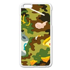 Urban Camo Green Brown Grey Pizza Strom Apple Iphone 6 Plus/6s Plus Enamel White Case by Mariart