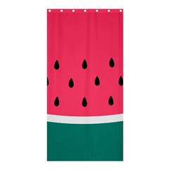 Watermelon Red Green White Black Fruit Shower Curtain 36  X 72  (stall)  by Mariart