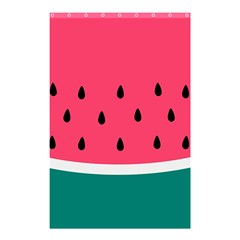 Watermelon Red Green White Black Fruit Shower Curtain 48  X 72  (small)  by Mariart