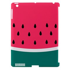 Watermelon Red Green White Black Fruit Apple Ipad 3/4 Hardshell Case (compatible With Smart Cover) by Mariart