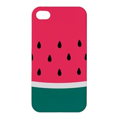Watermelon Red Green White Black Fruit Apple Iphone 4/4s Premium Hardshell Case by Mariart