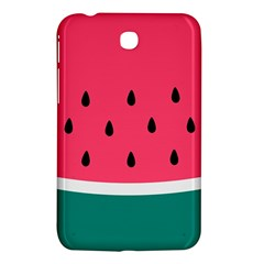 Watermelon Red Green White Black Fruit Samsung Galaxy Tab 3 (7 ) P3200 Hardshell Case  by Mariart