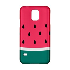 Watermelon Red Green White Black Fruit Samsung Galaxy S5 Hardshell Case  by Mariart