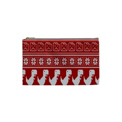 Red Dinosaur Star Wave Chevron Waves Line Fabric Animals Cosmetic Bag (small)  by Mariart