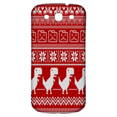 Red Dinosaur Star Wave Chevron Waves Line Fabric Animals Samsung Galaxy S3 S Iii Classic Hardshell Back Case by Mariart