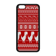 Red Dinosaur Star Wave Chevron Waves Line Fabric Animals Apple Iphone 5c Seamless Case (black) by Mariart