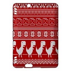 Red Dinosaur Star Wave Chevron Waves Line Fabric Animals Kindle Fire Hdx Hardshell Case by Mariart