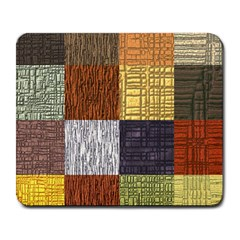 Blocky Filters Yellow Brown Purple Red Grey Color Rainbow Large Mousepads by Mariart