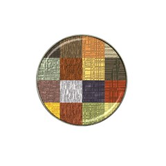 Blocky Filters Yellow Brown Purple Red Grey Color Rainbow Hat Clip Ball Marker by Mariart