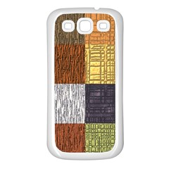 Blocky Filters Yellow Brown Purple Red Grey Color Rainbow Samsung Galaxy S3 Back Case (white) by Mariart