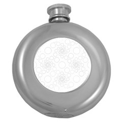 Pattern Round Hip Flask (5 Oz) by Valentinaart