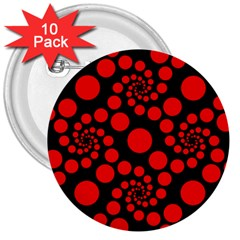 Pattern 3  Buttons (10 Pack)  by Valentinaart