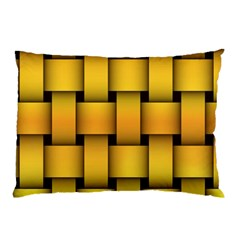 Rough Gold Weaving Pattern Pillow Case (two Sides) by Simbadda
