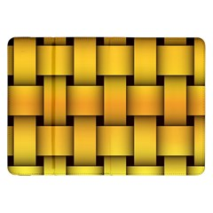 Rough Gold Weaving Pattern Samsung Galaxy Tab 8 9  P7300 Flip Case by Simbadda