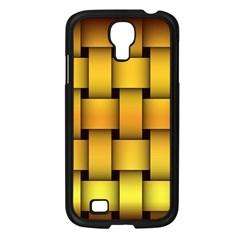 Rough Gold Weaving Pattern Samsung Galaxy S4 I9500/ I9505 Case (black) by Simbadda