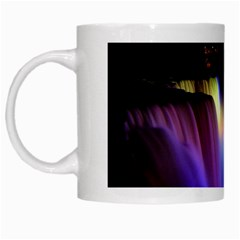 Niagara Falls Dancing Lights Colorful Lights Brighten Up The Night At Niagara Falls White Mugs by Simbadda