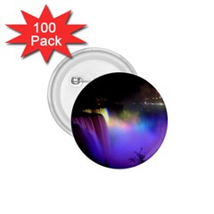 Niagara Falls Dancing Lights Colorful Lights Brighten Up The Night At Niagara Falls 1 75  Buttons (100 Pack)  by Simbadda