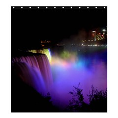Niagara Falls Dancing Lights Colorful Lights Brighten Up The Night At Niagara Falls Shower Curtain 66  X 72  (large)  by Simbadda