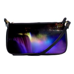Niagara Falls Dancing Lights Colorful Lights Brighten Up The Night At Niagara Falls Shoulder Clutch Bags by Simbadda