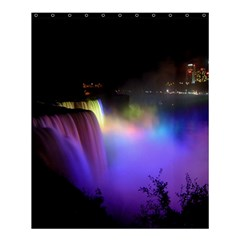 Niagara Falls Dancing Lights Colorful Lights Brighten Up The Night At Niagara Falls Shower Curtain 60  X 72  (medium)  by Simbadda