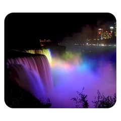 Niagara Falls Dancing Lights Colorful Lights Brighten Up The Night At Niagara Falls Double Sided Flano Blanket (small)  by Simbadda