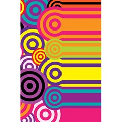 Retro Circles And Stripes Colorful 60s And 70s Style Circles And Stripes Background 5 5  X 8 5  Notebooks by Simbadda