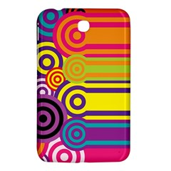 Retro Circles And Stripes Colorful 60s And 70s Style Circles And Stripes Background Samsung Galaxy Tab 3 (7 ) P3200 Hardshell Case  by Simbadda