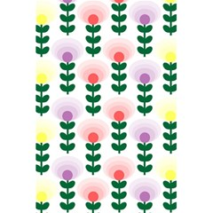 Floral Wallpaer Pattern Bright Bright Colorful Flowers Pattern Wallpaper Background 5 5  X 8 5  Notebooks by Simbadda