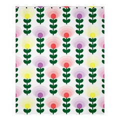 Floral Wallpaer Pattern Bright Bright Colorful Flowers Pattern Wallpaper Background Shower Curtain 60  X 72  (medium)  by Simbadda