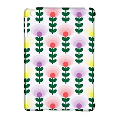Floral Wallpaer Pattern Bright Bright Colorful Flowers Pattern Wallpaper Background Apple Ipad Mini Hardshell Case (compatible With Smart Cover) by Simbadda