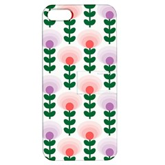 Floral Wallpaer Pattern Bright Bright Colorful Flowers Pattern Wallpaper Background Apple Iphone 5 Hardshell Case With Stand by Simbadda