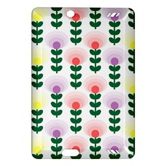 Floral Wallpaer Pattern Bright Bright Colorful Flowers Pattern Wallpaper Background Amazon Kindle Fire Hd (2013) Hardshell Case by Simbadda