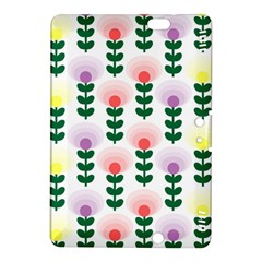 Floral Wallpaer Pattern Bright Bright Colorful Flowers Pattern Wallpaper Background Kindle Fire Hdx 8 9  Hardshell Case by Simbadda