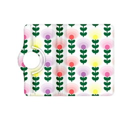 Floral Wallpaer Pattern Bright Bright Colorful Flowers Pattern Wallpaper Background Kindle Fire Hd (2013) Flip 360 Case by Simbadda