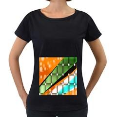 Abstract Wallpapers Women s Loose Fit T Shirt (black) by Simbadda