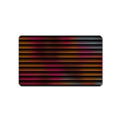 Colorful Venetian Blinds Effect Magnet (name Card) by Simbadda
