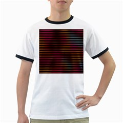 Colorful Venetian Blinds Effect Ringer T Shirts by Simbadda