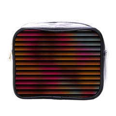 Colorful Venetian Blinds Effect Mini Toiletries Bags by Simbadda