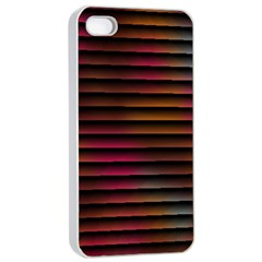 Colorful Venetian Blinds Effect Apple Iphone 4/4s Seamless Case (white) by Simbadda