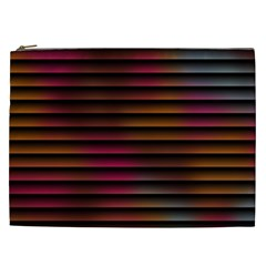 Colorful Venetian Blinds Effect Cosmetic Bag (xxl)  by Simbadda