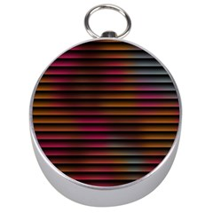 Colorful Venetian Blinds Effect Silver Compasses by Simbadda
