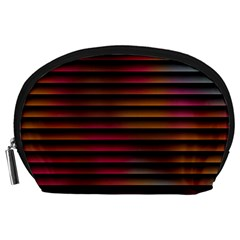 Colorful Venetian Blinds Effect Accessory Pouches (Large)