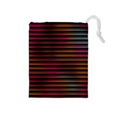 Colorful Venetian Blinds Effect Drawstring Pouches (medium)