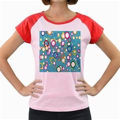 Circles Abstract Color Women s Cap Sleeve T-Shirt by Simbadda