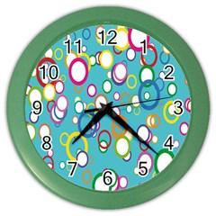 Circles Abstract Color Color Wall Clocks by Simbadda