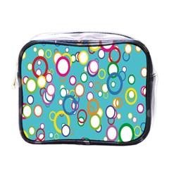 Circles Abstract Color Mini Toiletries Bags by Simbadda