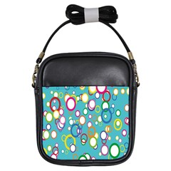 Circles Abstract Color Girls Sling Bags by Simbadda