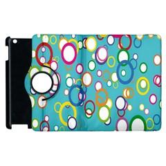 Circles Abstract Color Apple Ipad 2 Flip 360 Case by Simbadda